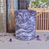 Sostenedores de vela de cristal de la impresión de mármol para la decoración casera