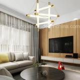 Modernes hängendes Licht des Goldgefäß-LED für Hotel-Projekt