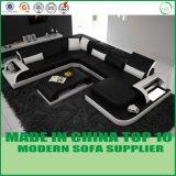Moderne Wohnzimmer-Leder-Ecken-Couches