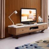 純木TVのキャビネットの大理石のテーブルの上ヨーロッパの切り分けるTV表(LTV2013)