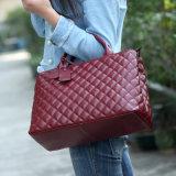 Späteste Entwerfer-echtes Leder-Handtaschen-Damenform gestickter Tote-Beutel