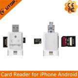 USB 섬광 드라이브 (YT-R003)로 OTG iPhone 인조 인간을%s Microsd+SD 카드 판독기