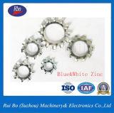 Plaqué zinc6797DIN une dent externe Ss verrouiller la rondelle en acier
