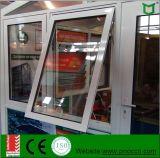 Verre de sécurité de la fenêtre d'ébarbage en aluminium, du matériel allemand rupture thermique auvent de Profil Windows