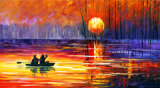 習慣によって印刷されるタイプ美しいシャクヤクの花の景色の芸術の絵画