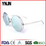 Óculos de sol unisex redondos do metal UV400 da forma retro de Ynjn (YJ-F83306)