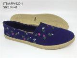 Nuevos zapatos ocasionales de los zapatos de lona de la inyección de las mujeres del estilo (FPY620-1)