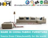 Caldo-Vendendo il sofà beige del tessuto del salone domestico della mobilia impostato (HC574)