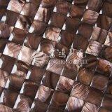Azulejo de mosaico teñido shell de agua dulce de la cara 20*20m m del arco del color