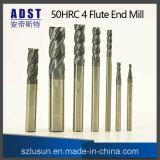 Fresa calda dell'estremità dell'acciaio di tungsteno di vendita 50HRC 4flute
