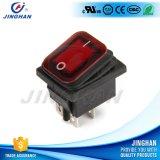 Interruptor de eje de balancín al por mayor del botón rojo del Pin 250V de Kcd4-101fs 4