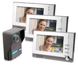 7 polegadas 4 Fios de mãos livres porta de vídeo a cores do sistema de intercomunicação de Telefone