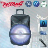 Feiyang/Temeisheng 18 Zoll leistungsfähiger beweglicher Bluetooth Lautsprecher/Subwoofer mit Laufkatze Lihght--Cx-18d