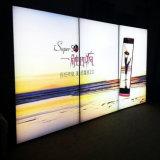 Casella chiara di pubblicità di alluminio fissata al muro del LED