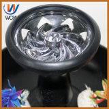Silicón con la cachimba de cristal de Shisha del vaporizador del tubo que fuma del carbón del tazón de fuente del tazón de fuente de cristal del carbón de leña