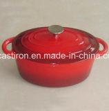 LFGB, CE, FDA, SGS Qualified Cast Iron Oval Casserole com revestimento de esmalte