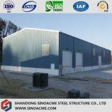 Edifício pré-fabricado da vertente do armazenamento da construção de aço