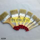 Brosse à poignée en bois à brosse à peinture avec poils naturels