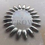 Poudre d'argent de poudre de colorant de miroir de chrome pour le clou