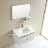 Vanità della stanza da bagno dell'acciaio inossidabile di rv con lo specchio del bacino (094)