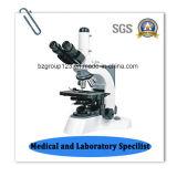 Microscopio biológico de Trinocular Digital del laboratorio