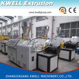 Producción del tubo del PVC que hace la máquina, máquina de la protuberancia del tubo de agua