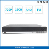 16CH 720p H. 264 CCTV Ahd/Tvi DVR
