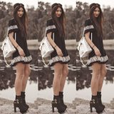 Высокое качество женщин тканью платья летний мини платье