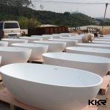 Vasca da bagno di superficie solida a buon mercato acrilica della stanza da bagno della fabbrica della Cina
