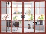 Porte coulissante vitrée en verre en aluminium