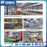 Perfil de aluminio de la capa del polvo del estándar de ISO 6063t5 para la construcción