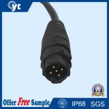 Cable conector de 6 pines Negro autoblocante Hombre Mujer impermeable para iluminación LED