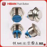 interruttore di pulsante normalmente aperto dell'anello LED di 16mm