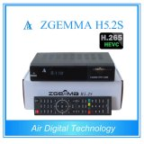 Enigma2 Linux H. 265 Decodificador de TV Twin DVB S2 Zgmma H5.2s