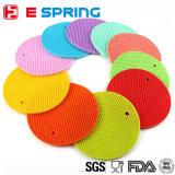 多彩な耐熱性丸型のパッドのシリコーン厚いTablemat