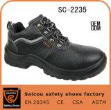 Hete Lace-up Werkende Schoenen Sc-2235 van de Teen van het Staal van het Leer van Buffels Seling