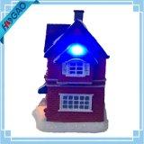Regalo ottico dell'indicatore luminoso della decorazione della costruzione della Camera del villaggio del negozio di natale della fibra
