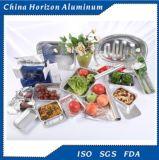 8011 80 mícrons de recipiente quente da folha de alumínio da venda