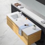 Modernes weißes festes Oberflächeneitelkeits-Schrank-Waschbecken
