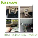 Uso del OBD de la fábrica de Vasens y GPS automotores para el coche que sigue, tipo del perseguidor del GPS