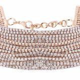 贅沢できらびやかで完全なラインストーン多層カラーダイヤモンドの方法チョークバルブのネックレスの宝石類
