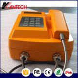 Teléfono Knsp Anti-Terrosist-18 Teléfono Impermeable IP66 Rubost Teléfono