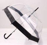 Parapluie Transparent Auto Ouvert Transparent avec Poignée Plastique pour Promotion
