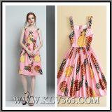Платье оптового типа лета женщин конструктора нового безрукавный флористическое напечатанное сладостное