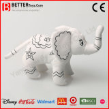 색칠 견면 벨벳 박제 동물 아이 당기기를 위한 연약한 코끼리 장난감