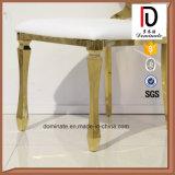 Elegante Eersteklas Witte het Dineren van het Roestvrij staal van het Frame van het Leer Gouden Stoel