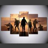 5 위원회 HD는 화포 Mc 156에 색칠 화포 인쇄 예술 거실 육군 포스터를 위한 현대 가정 장식 벽 예술 그림을 인쇄했다