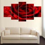 5 частей/комплект напечатали красным картину напечатанную декором холстины комнаты искусствоа стены картины плаката Rose влюбленности Mc-160