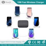 Telefoni mobili di sostegno 2 senza fili caldi del rilievo del caricatore di vendita 15W