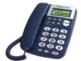 Telefone de ID do chamador, display LCD, telefone mãos livres de telemóvel mãos livres, telefone fixo,